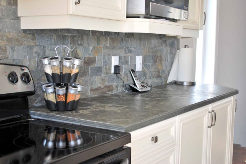 Backsplash and countertop