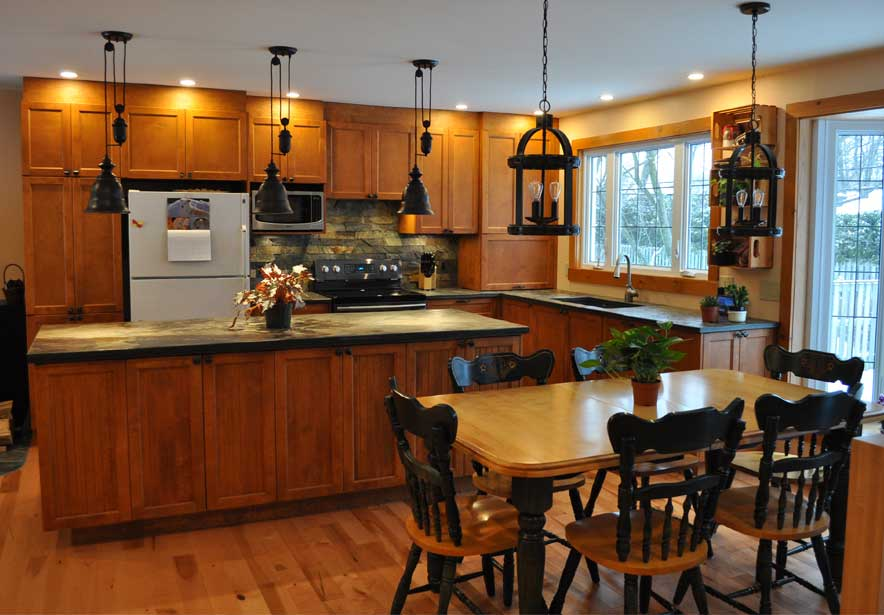 Kitchen island and countertop