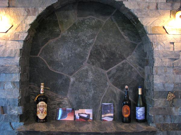 Lambris et mosaïque