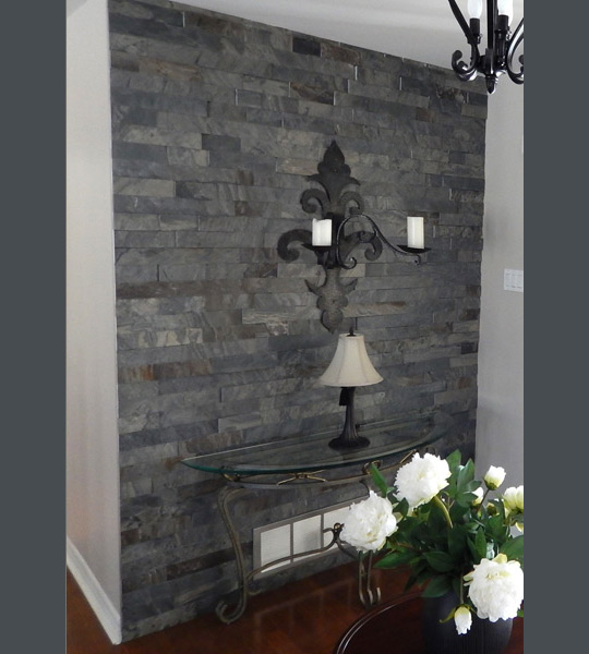 L 39 ardoisi re photo gallery slate decorative products prevost quebec - Lambris mur interieur ...
