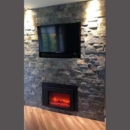Wall fireplace cladding Prelude patern