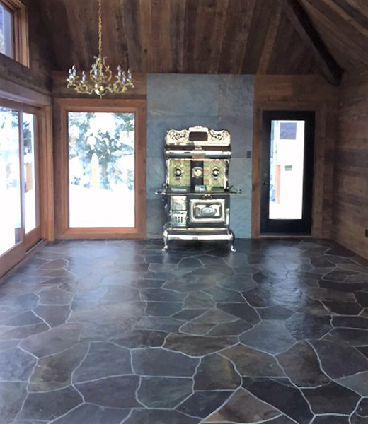 Terra-Nova Floor and Fireplace slate Wall panels