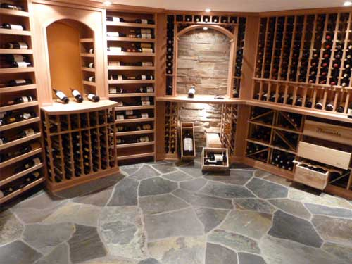 Wine cellar bulk floor tiles