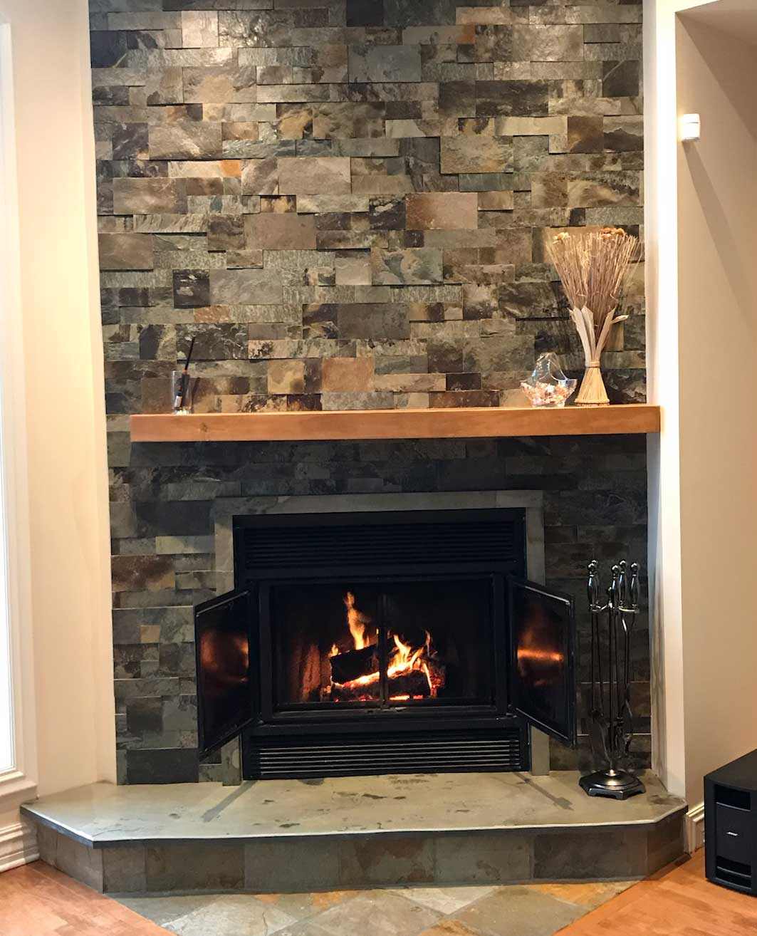 Fireplace Prelude wall cladding